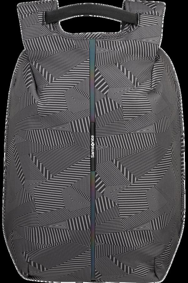 Samsonite Securipak Laptop Backpack 15.6'  Black/Grey Geometric Print