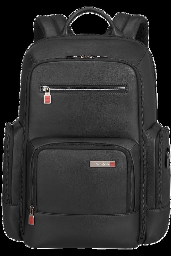 Samsonite Safton Lth Laptop Backpack  15.6inch Zwart