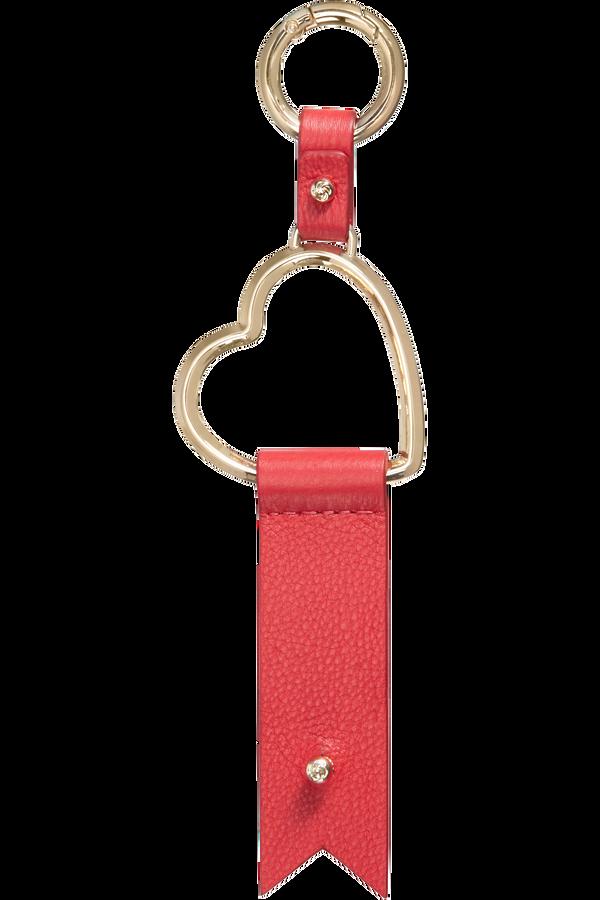 Samsonite Lady Charmy Heart Key Ring  Rood
