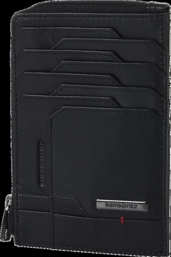 Samsonite Pro-Dlx 5 Slg 727-All in One Wallet Zip  Zwart