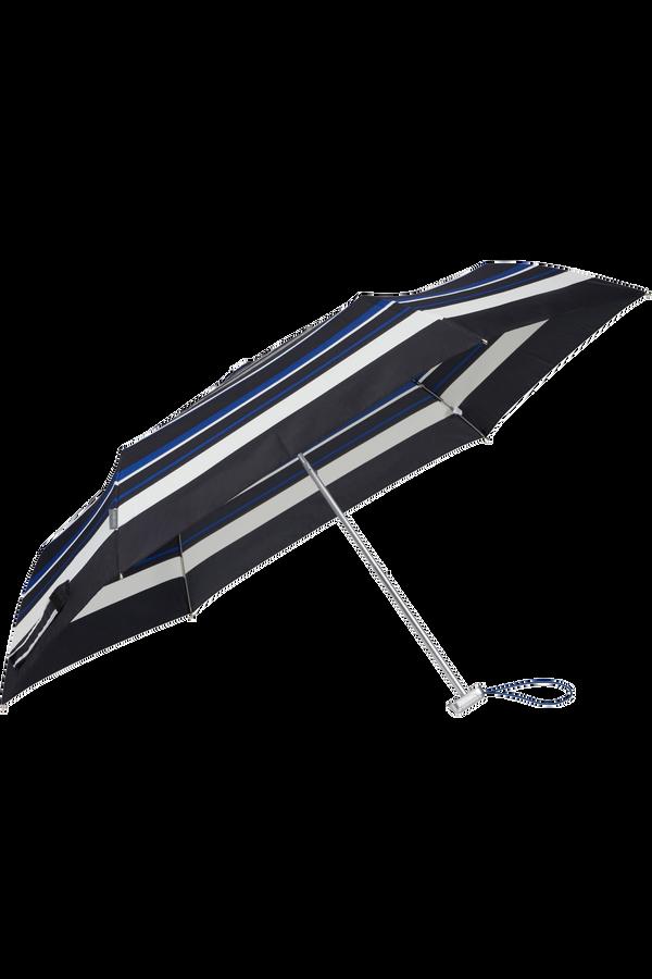 Samsonite Alu Drop S 3 Sect. Manual Flat  Blue Stripes
