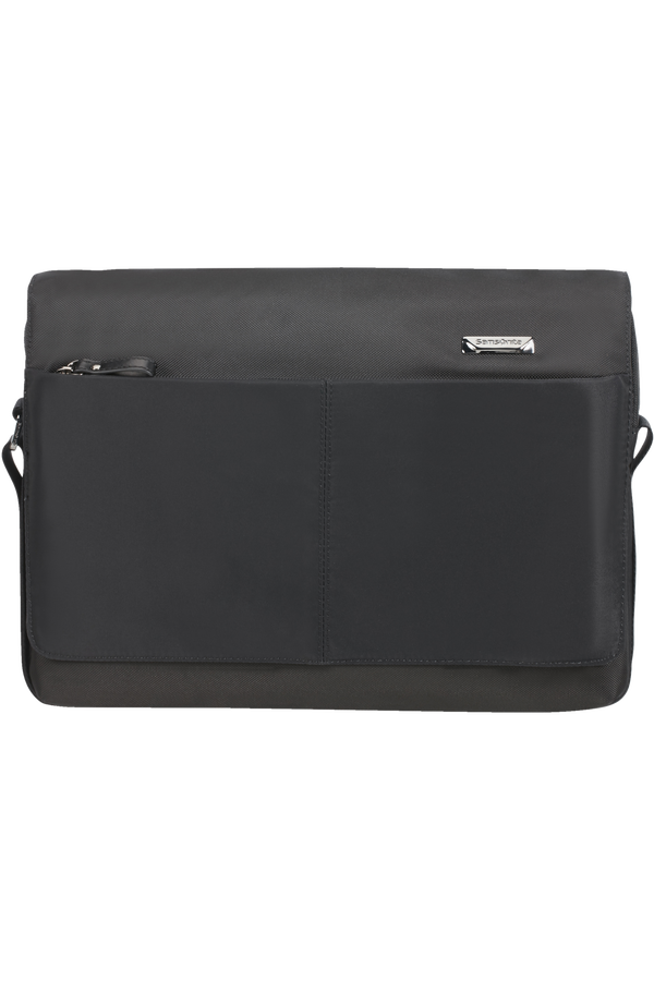 Samsonite Hip-Tech 2 Messenger 12.9'+Flap  Zwart