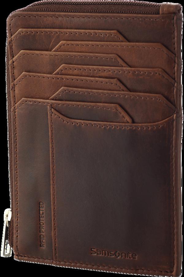 Samsonite Oleo Slg 727-All in One Wallet Zip  Dark Brown