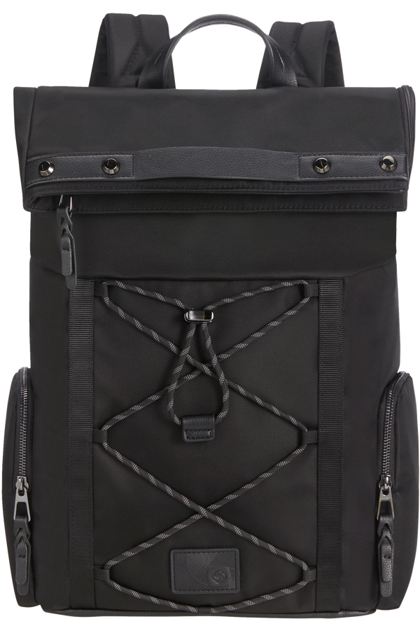 Samsonite Yourban Backpack + Flap  15.6inch Zwart