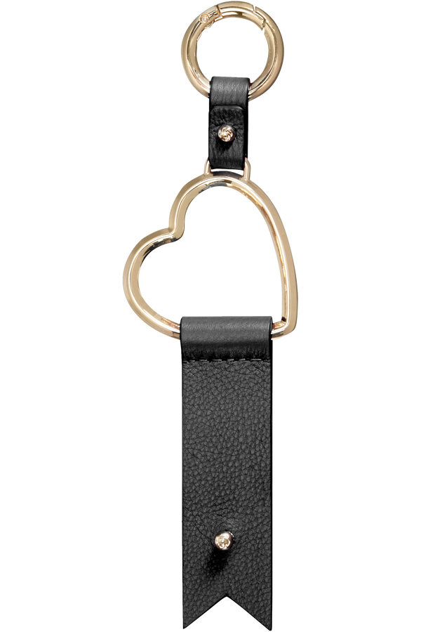 Samsonite Lady Charmy Heart Key Ring  Zwart