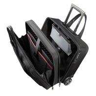 Gewatteerde laptop- en tablet-compartimenten met elastische bevestigingsriem in velcro.