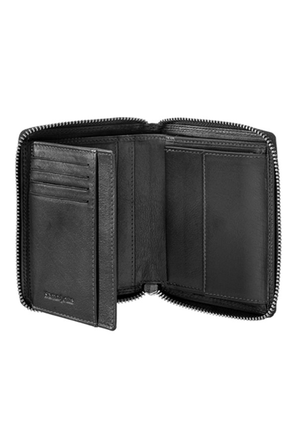 Samsonite Portemonnee.Samsonite Attack Slg Wallet Zip Around M Zwart Samsonite Nl